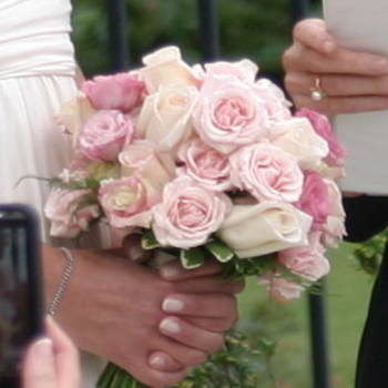 Pastel Pink Rose Bride's Bouquet