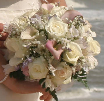 Calla Lily-Ivory Rose Bridal Bouquet